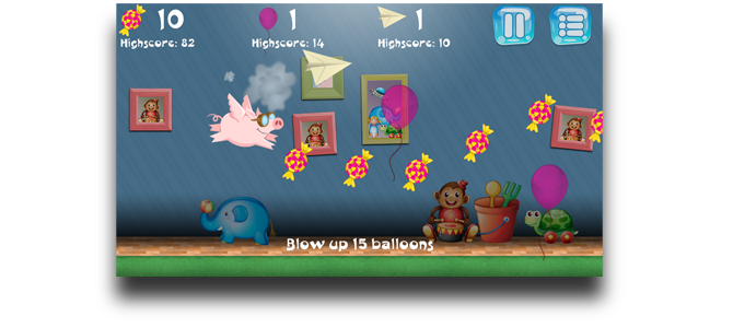 Favius » Flying Piggy 2D Runner Game Template for Unity